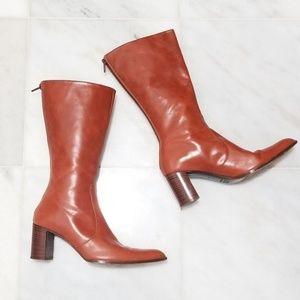 Anne Klein Pointy-toe Cognac Boots